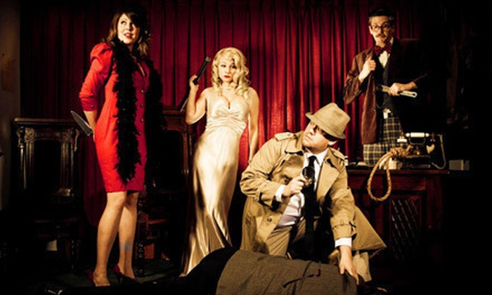 The Murder Mystery Company - Media and Entertainment District: Murder-Mystery Dinner Show for One or Two Presented by The Murder Mystery Company (Up to 53% Off)