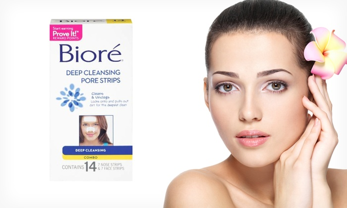 Bioré Deep-Cleansing Pore Strips: 14-Pack of Nose and Face Strips