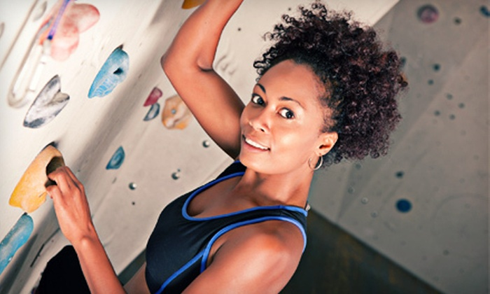 Stone Age Rock Gym - Manchester: $30 for Day of Indoor Rock Climbing with Gear and Intro Lesson at Stone Age Rock Gym in Manchester ($62.75 Value)