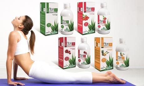 2 confezioni di Aloe Vera 100% succo Specchiasol da 1L disponibili in 4 gusti