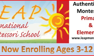 Leap International Montessori School: $149 for One Week of Summer Day-Camp for Kids at Leap International Montessori School