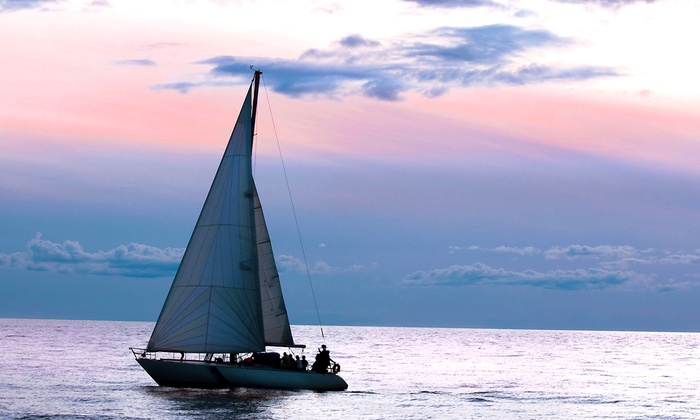 The Sailboat Club - Jacksonville: Two-Hour Sunset Cruise for 2 or 4, or Introductory Private Sailing Lesson for 2 from The Sailboat Club (Up to 70% Off)