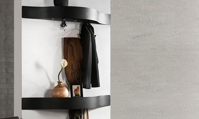 porte manteaux avec rangement groupon. Black Bedroom Furniture Sets. Home Design Ideas