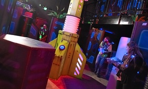 Bounce Milwaukee: Unlimited Play, Laser Tag, and Climbing Wall with Drinks for One, Two, or Four at Bounce Milwaukee (54% Off)