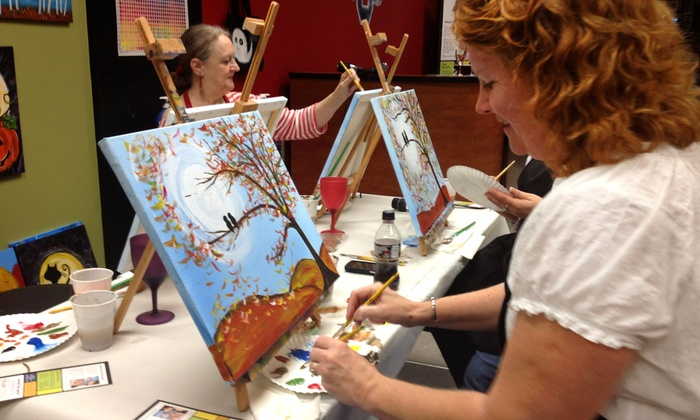 ArtsyU - Hickory Valley - Hamilton Place: $12 for a 2.5-Hour Bring-Your-Own-Wine Painting Class at ArtsyU ($25 Value)