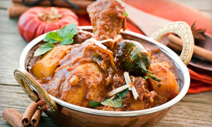 The Dancing Elephant II - Multiple Locations: Indian Dinner for Two or Four at The Dancing Elephant II (Up to 53% Off)