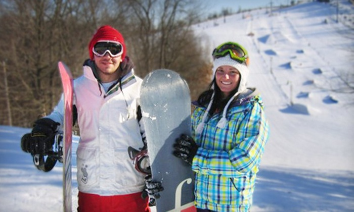 Swiss Valley Ski & Snowboard Area - Jones: All-Day Ski Pass with Optional Equipment Rentals at Swiss Valley Ski & Snowboard Area (Up to Half Off)