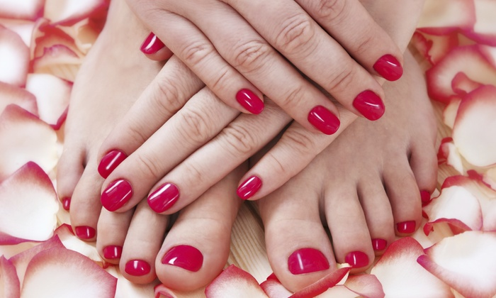 Hair And Nails By Design - Wade Hampton: A Spa Manicure and Pedicure from Kayla Wilson at Hair and Nails by Design (50% Off)