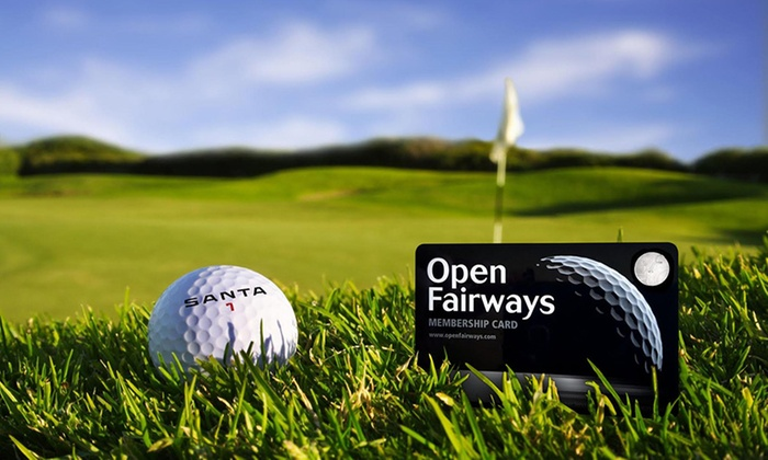Open Fairways: 6, 12, 18 or 24-Month Privilege Card and Half Price Golf Green Fees from Open Fairways (Up to 63% Off)