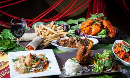 TwoCourse Indian Meal with Wine for Two $35 or Four People $70 at Indian Brothers Up to $150.80 Value
