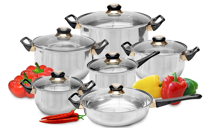 Bater a de cocina de 12 piezas groupon goods - Bateria de cocina solingen 12 piezas ...