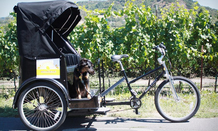 Sonoma Pedicabs - Boyes Hot Springs: $89 for a Three-Hour Pedicab Wine Tour for Two from Sonoma Pedicabs ($200 Value)