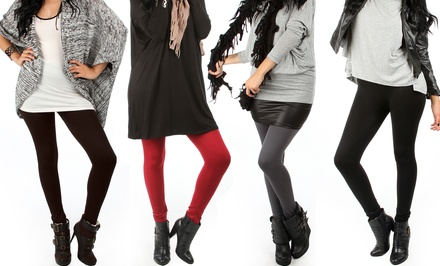 4-Pack of Plus-Size Fleece Leggings
