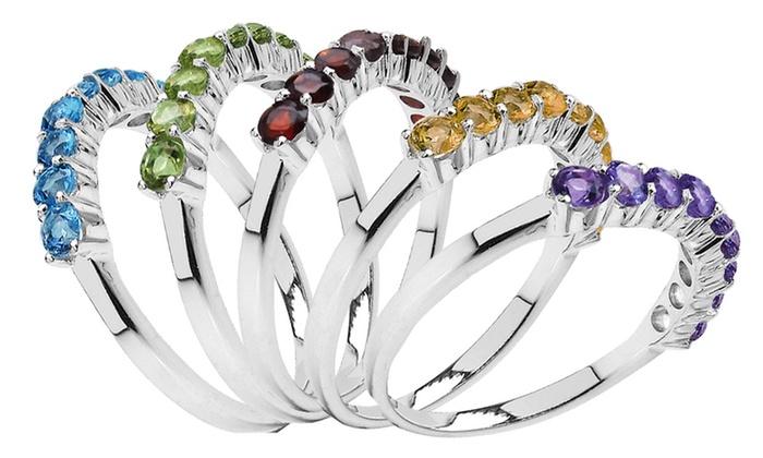 Gemstone Ring: Gemstone Ring. Multiple Stones Available. Free Returns.