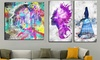 Gallery-Wrapped Urban-Style Canvas Art Print: Gallery-Wrapped Urban-Style Canvas Art Print