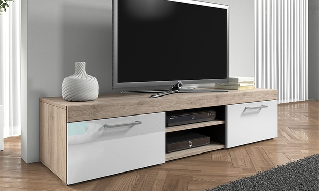 mambo gloss tv cabinet groupon goods. Black Bedroom Furniture Sets. Home Design Ideas