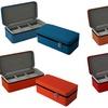 Leatherette 3-Slot Zipper Watch Travel Case