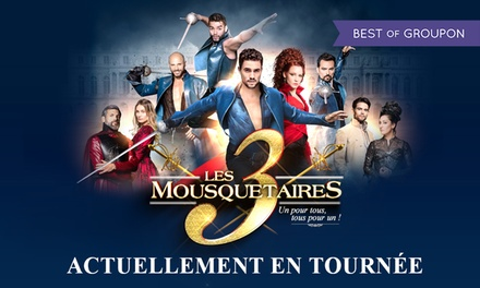 1 place au choix pour la tournée Les 3 Mousquetaires le 24 juin 2017 à 15h30 ou 21h dès 24 € au Dôme de Marseille