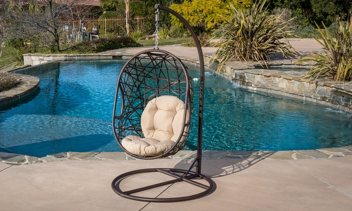 Guerneville Egg Shaped Outdoor Swing Chair ...