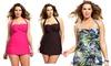 Shore Club Plus-Size One-Piece Halter Swimsuit: Shore Club Plus-Size One-Piece Halter Swimsuit