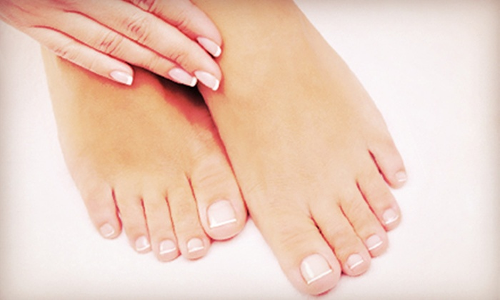 he Said... she Said Salon - Savannah: Gel Manicure or One or Two Gel Manicures with Pretty Toes Pedicures at he Said... she Said Salon (Up to 54% Off)