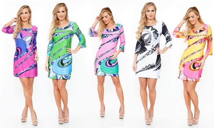 White Mark Women's Printed Summer Dresses: White Mark Women's Printed Summer Dresses