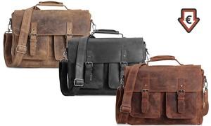 PACKENGER GmbH: Packenger Leder-Umhängetasche Kolbjorn mit Gravur in Schwarz, Cognac-Braun oder Muskat-Braun inkl. Versand (54% sparen*)