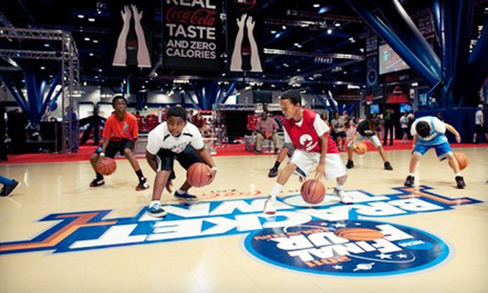 Bracket Town Refreshed by Coca-Cola Zero - Lower Garden District: One, Two, or Four Tickets to the 2012 Ultimate Final Four Fanfest Bracket Town Refreshed by Coca-Cola Zero at Ernest N. Morial Convention Center (Up to 54% Off)