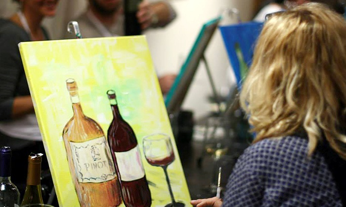 Paint The Town Studio - Huntington: Painting Classes for One, Two, or Four at Paint The Town Studio (Up to 57% Off)