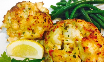 Seafood and American Cuisine at Captain James Landing (Up to 50% Off). Two Options Available.