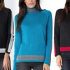 Women's Two-Tone Turtleneck Sweaters