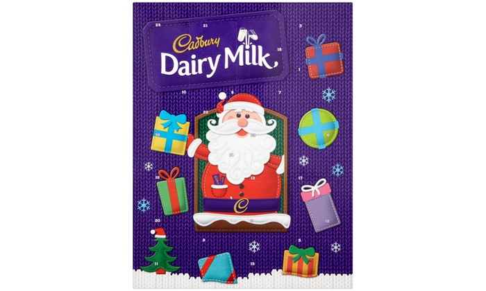 Advent Calendar Ideas Without Chocolate : Cadbury chocolate advent calendar groupon goods