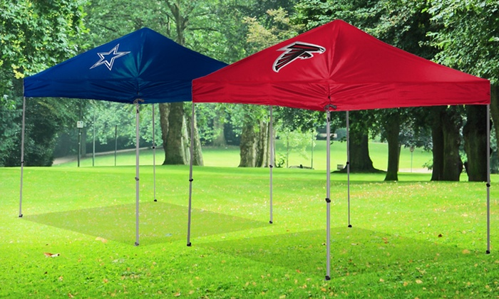 9'x9' NFL Canopy Tent: $129.99 for a 9'x9' NFL Canopy Tent ($170 List Price). Multiple Teams Available. Free Shipping and Returns.