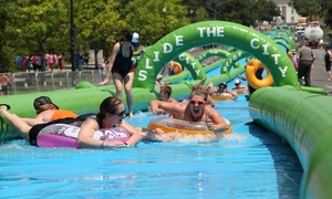 Slide The City: Single Slider, Triple Slider, or VIP Slider Entry Package to Slide The City on Saturday, July 25 (Up to 38% Off)