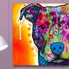 Colorful Dogs and Cats on Metal