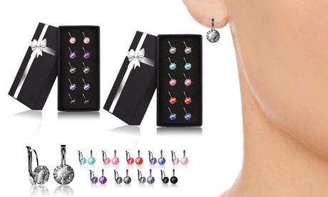 1, 5 o 10 pares de pendientes decorados con cristales de Swarovski® (envío gratuito)