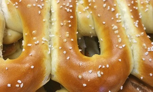 Philly Pretzel Factory: Pretzels, Hotdogs, and Drinks at Philly Pretzel Factory (Up to 50% Off). Three Options Available.