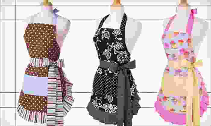 Flirty Aprons: $15 for $30 Worth of Aprons, Bibs, and Kitchen Gloves from Flirty Aprons