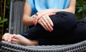 Nails Design: One or Two Mani-Pedis with Foot Massage at Nails Design (Up to 70% Off)