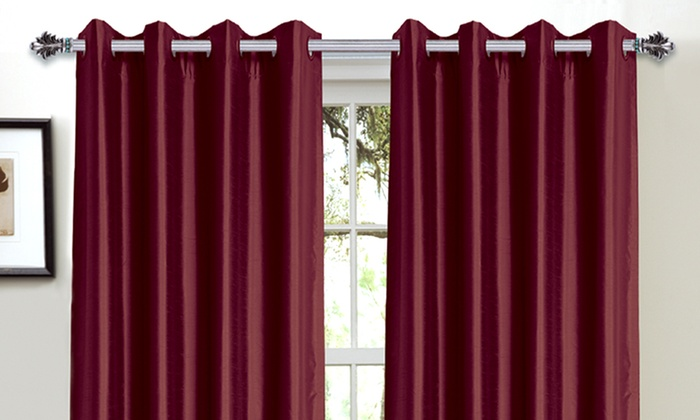 $19.99 for 2 Bella Luna Faux-Silk Blackout Curtain Panels | Groupon