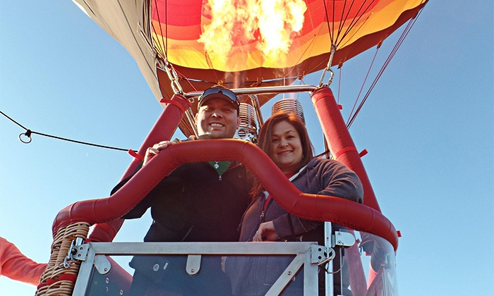 Love is in the Air Ballooning - Canyon Gate: Traditional Hot Air Balloon Ride for Two, Four, or Six from Love is in the Air Ballooning (Up to 47% Off)