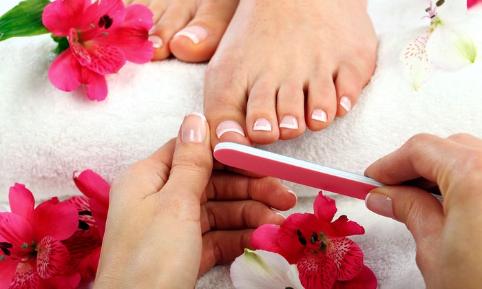 Beyond Beauty Salon N Spa - Oak Lawn: Spa or Shellac Mani-Pedis at Beyond Beauty Salon N Spa  (Up to 54% Off). Six Options Available.