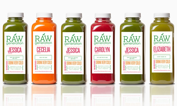 Raw Generation: Juice Cleanses from Raw Generation (Up to 50% Off). Four Options Available.