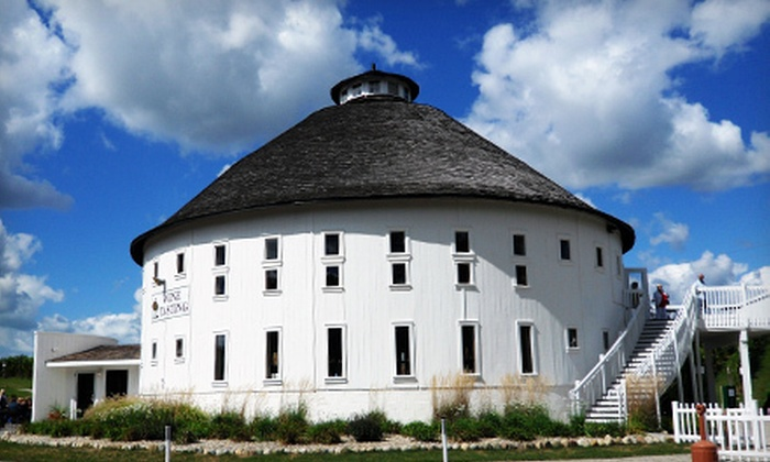 Round Barn Winery, Brewery and Distillery - Baroda: Wine, Beer, & Spirits Tasting Package for 2 or 4 with Glasses at Round Barn Winery, Brewery and Distillery (50% Off)