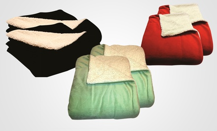 2-Pack Micromink Sherpa Throws