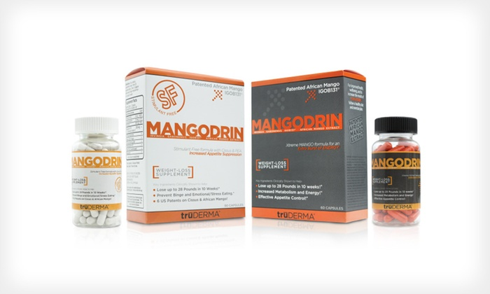 MangoDrin Weight-Loss Supplement: $35 for Two-Month Supply of MangoDrin Weight-Loss Supplement ($100 List Price). Two Options Available. Free Shipping.