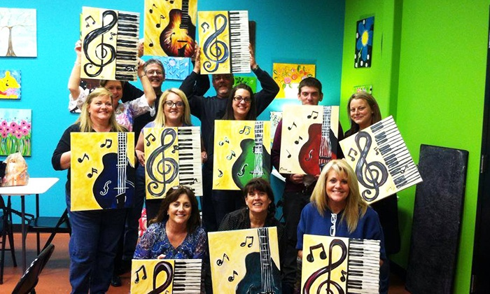 The Art Mill - Multiple Locations: Adult Paint Night for Two at The Art Mill (Up to 59% Off). Two Options Available.