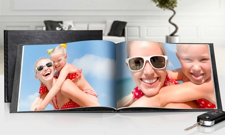 Custom Leather-Bound Photo Book with Shipping from Printerpix (Up to 76% Off). Three Options Available.