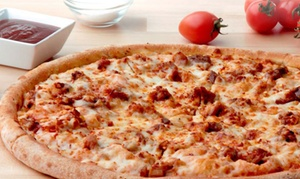 Papa John's Pizza: Pizza Packages with Optional Soda at Papa John's Pizza (Up to 51% Off). Three Options Available.