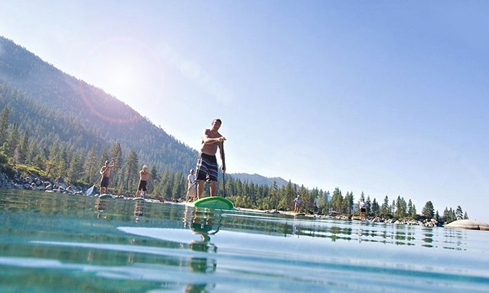 Adrift Tahoe - Downtown Kings Beach: Two-Hour Stand-Up Paddleboard or Kayak Tour for One or Two at Adrift Tahoe (Up to 53% Off)